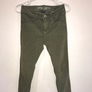 ☆army green skinny jeans☆